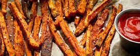 Baked Sweet Potato Fries (Leached)